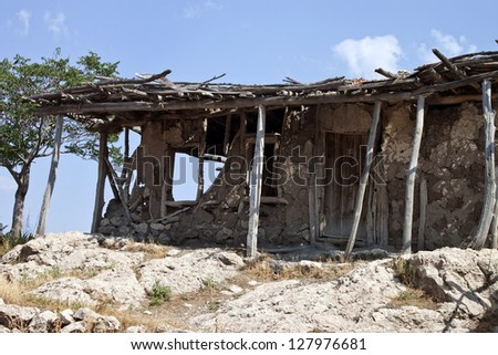 Very Old Abandoned Wooden Hut Stock Photo 65415514