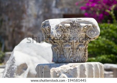Old ruins in Kos Town, Kos, Greece - stock photo