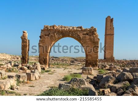 Old Ruins Of Harran University  - stock photo