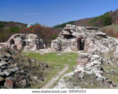 Old ruins of Troyan Gates fortress. Rodops mountains. Ihtiman. Bulgaria - stock photo