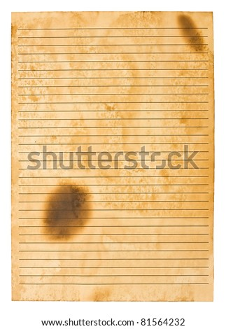 old rules paper - stock photo