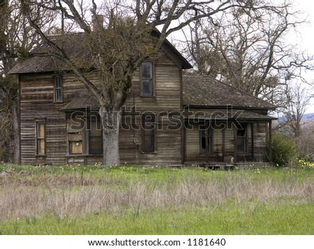 Old Run-down Haunted Abandoned Farm House