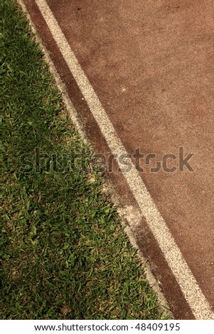 old running track - stock photo
