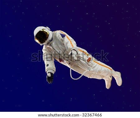 old russian astronaut suit - stock photo