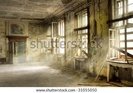 old russian barracks - stock photo