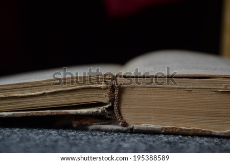Old Russian book - stock photo
