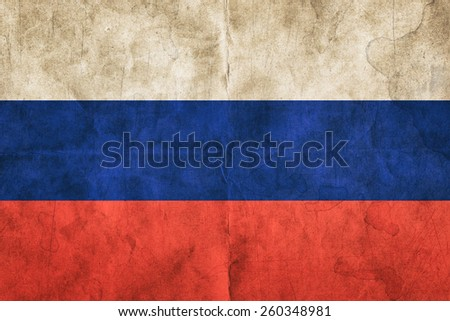 Old russian flag - stock photo