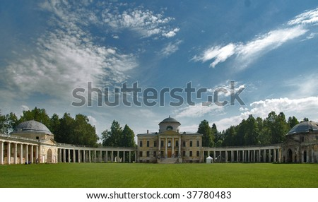 old Russian mansion - stock photo