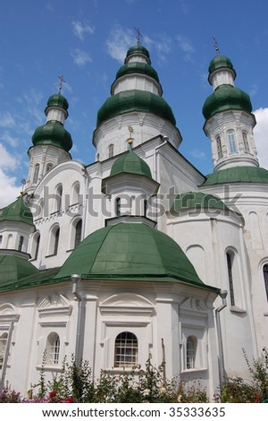 Old Russian orthodox cathedral in historical Russian town Chernigov,Ukraine