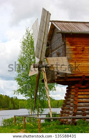 Old Russian Windmill - stock photo