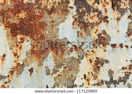 Old rust surface background and texture - stock photo