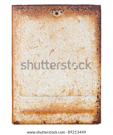 Old rusted electric panels - stock photo
