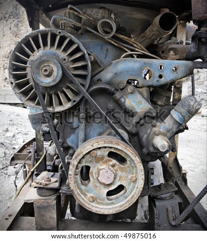 Old rusted machine - stock photo