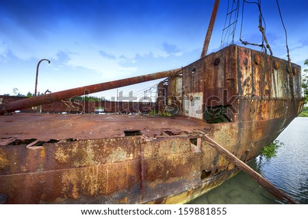 Old rusted ship wreck