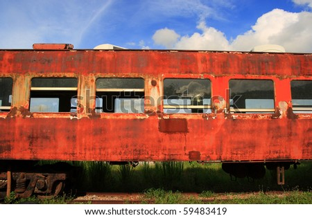 old rusted train - stock photo
