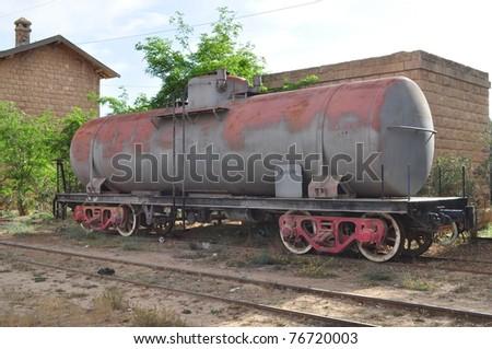 Old Rusted Train in Jordan - stock photo