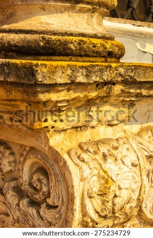 old rustic column - stock photo