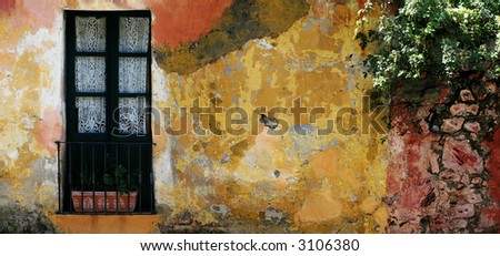 Old rustic house in Colonia, Uruguay - stock photo