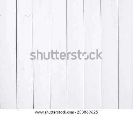 Old rustic white painted wooden texture or background - stock photo