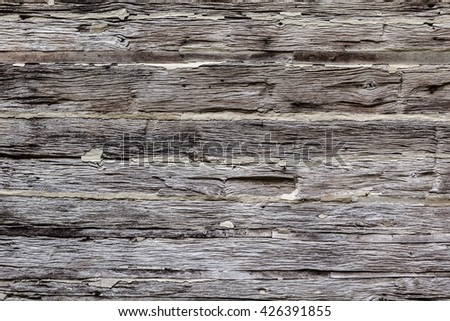 Old rustic wooden cabin wall architectural background - stock photo