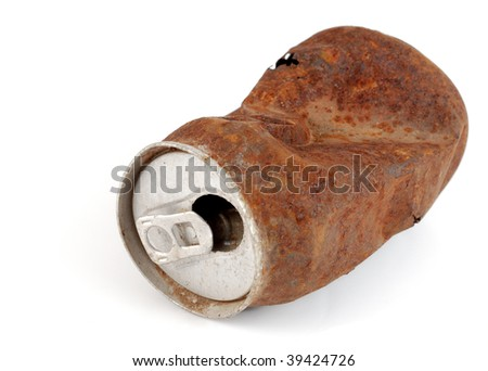 old rusty beverage can trash - stock photo