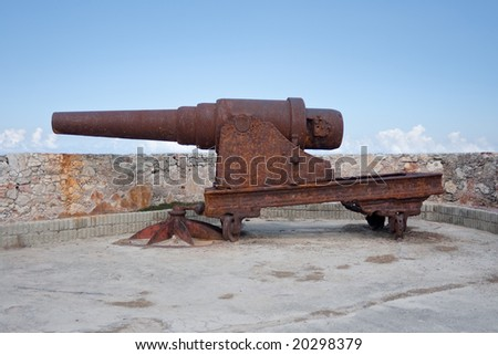 Old rusty cannon at El Morro fortress in Havana, Cuba. #2