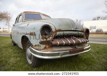old rusty car  - stock photo