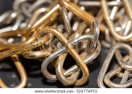 old rusty chain as a background - stock photo