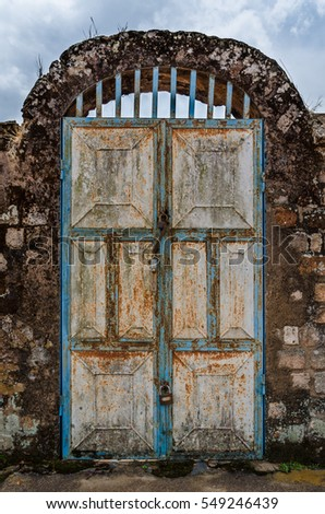 Old rusty door with pad locks and rock arch at historical palace of the Fon & Fon Stock Images Royalty-Free Images \u0026 Vectors | Shutterstock Pezcame.Com