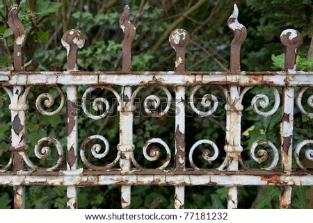 Old rusty fence