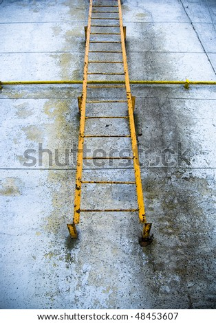 Old rusty fire exit ladder