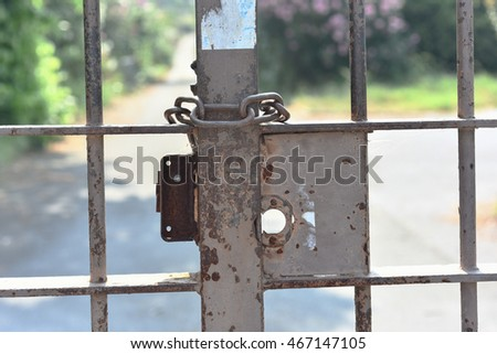 Old rusty gate
