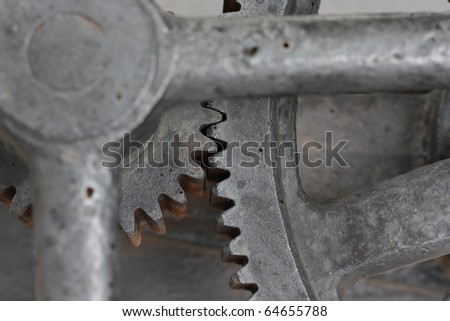 Old rusty gear - stock photo