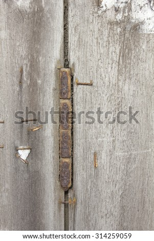 Old rusty hinges