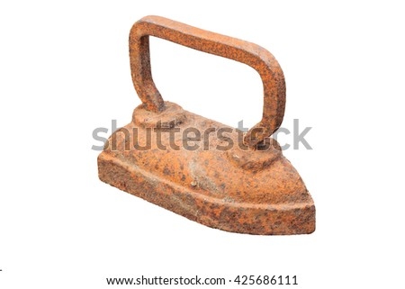 old rusty iron on the isolated background