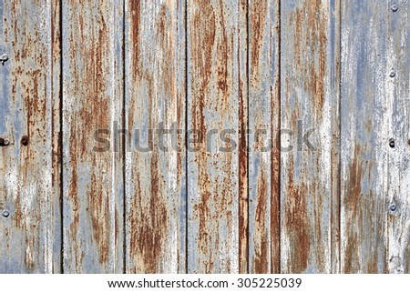 Old rusty iron texture. Grunge background - stock photo