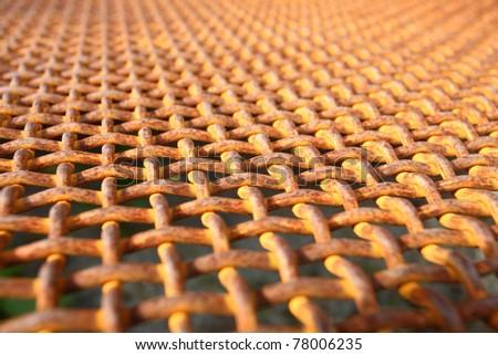 Old rusty lattice - stock photo