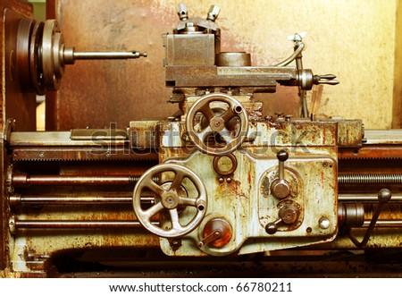 Old rusty machine - stock photo