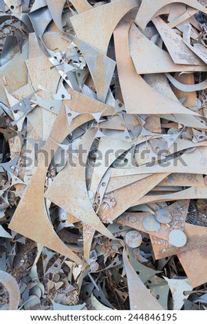 old rusty metal elements background - stock photo