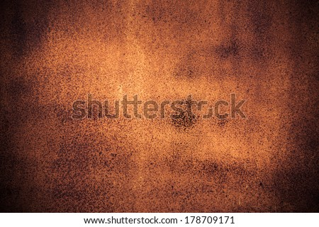Old rusty metal plate for background - stock photo