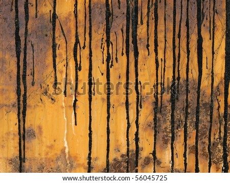 old rusty metal surface with crude oil background and texture - stock photo