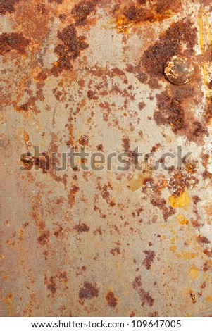 old rusty metal texture close-up - stock photo