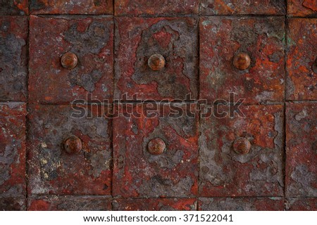 old rusty metal tile background horizontal background close up