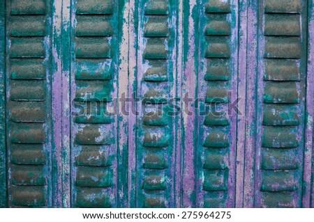old rusty metal ventilation panel - stock photo