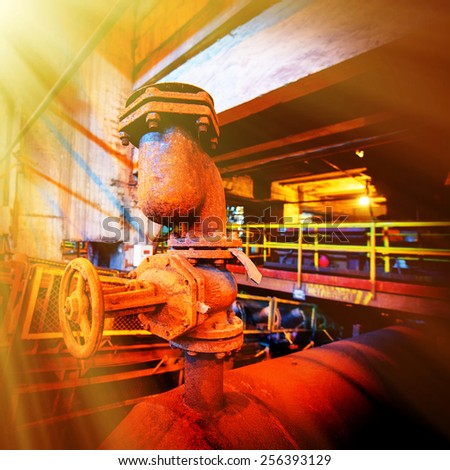 Old rusty mining processing equipment - stock photo