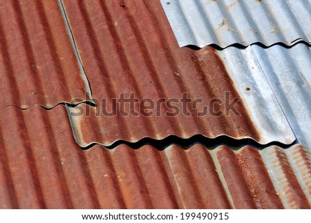 Old rusty or Old tin or Metal corroded texture - stock photo
