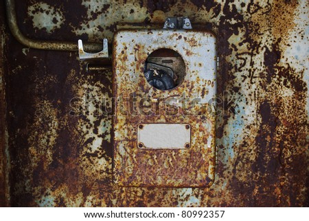 old rusty phone - stock photo