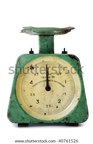 old rusty scales - stock photo
