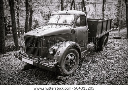 Old Rusty Vintage Truck.