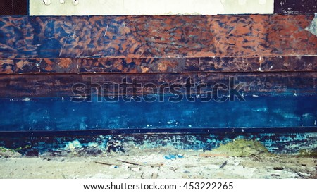 Old rusty wall. Strong colors and textures